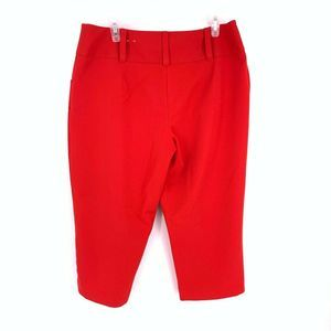 CATO Size 12 Red Cropped Capri Trousers Pants